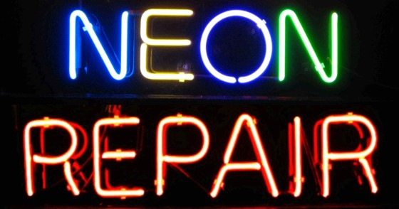 How do you repair a neon light?